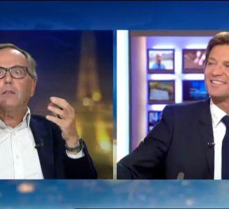 Fabrice Luchini et Laurent Delahousse, sur le plateau du...