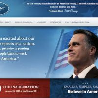 Mitt Romney : son site internet prévu en cas de victoire publié !