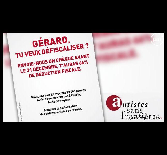 """La publicité de """"Autistes sans frontières"""""""