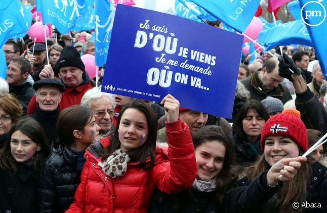 """La """"manif pour tous"""" organisée à Paris le 13 janvier 2013."""