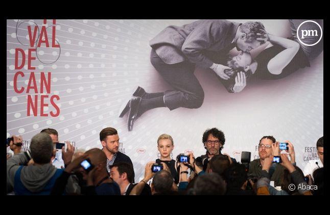 """Hier la croisette a chassé les frères Coen et le casting de """"Inside Llewyn Davis"""" : Carey Mulligan et Justin Timberlake."""