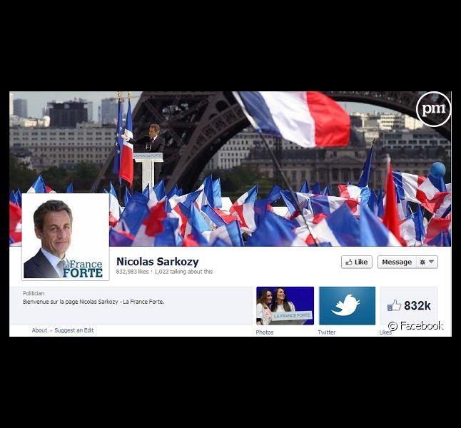 Capture d'écran de la page Facebook de Nicolas Sarkozy