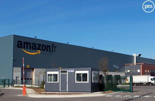 Un site logistique d'Amazon, à Montélimar.
