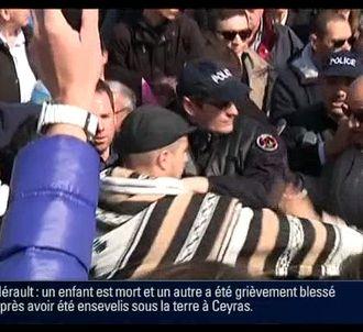 L'incident entre Marine Le Pen et des opposants.