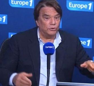 Bernard Tapie au micro d'Europe 1 dans la matinale de...