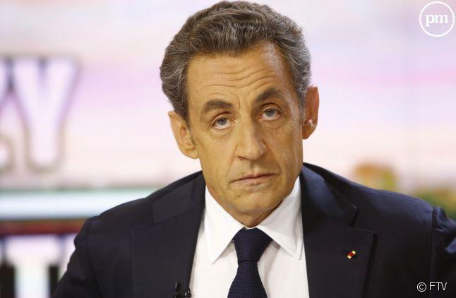 Nicolas Sarkozy, sur le plateau du 20 heures de France 2 le 21 septembre 2014.