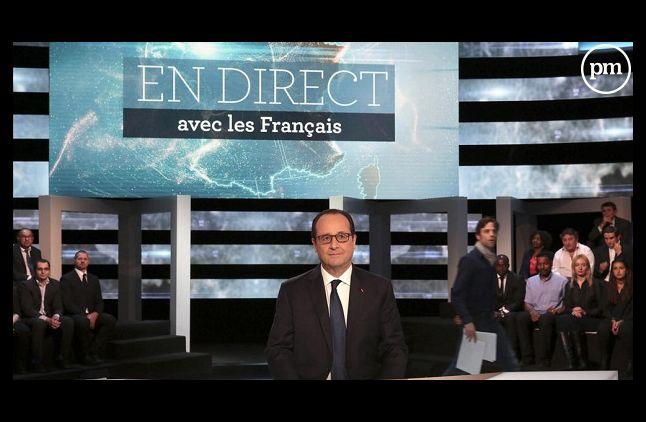 """François Hollande dans """"En direct avec les Français"""" sur TF1"""