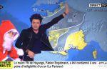 Kev Adams présente la météo avec le Père Noël sur iTELE