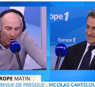 Nicolas Sarkozy et Nicolas Canteloup, siur Europe 1.