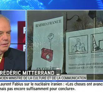 Frédéric Mitterrand, interrogé sur iTELE à propos de...