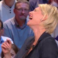 Maïtena Biraben prise d'un fou rire dans