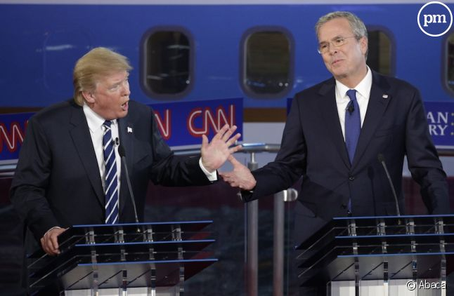 Donald Trump et Jeb Bush lors du débat sur CNN