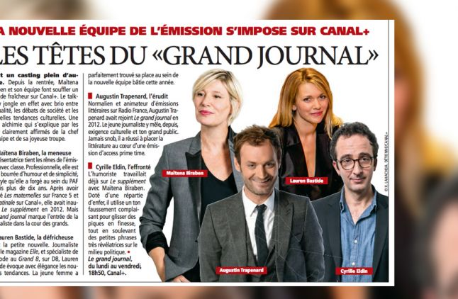 "L'article de ""Direct Matin"" sur ""Le Grand Journal""."