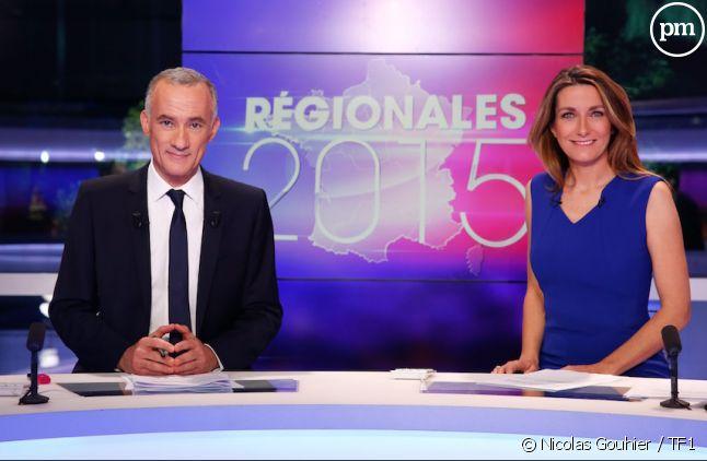 Anne-Claire Coudray et Gilles Bouleau, sur TF1.