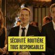 Sandrine Quétier, Stéphane Rotenberg, Michel Cymes et Laurence Ferrari pour la Sécurité routière