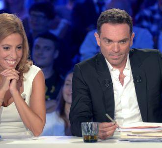 Léa Salamé avec Yann Moix dans 'On n'est pas couché'