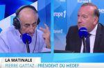 Europe 1 : Pierre Gattaz confond Jean-Pierre Elkabbach et Patrick Cohen