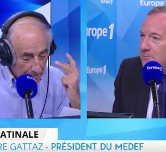 Europe 1 : Pierre Gattaz confond Jean-Pierre Elkabbach et...