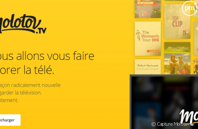 Molotov.tv arrive aujourd'hui en France