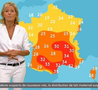 Claire Chazal présente la météo de franceinfo