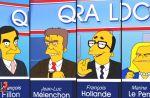 La campagne présidentielle française vue par les Simpson