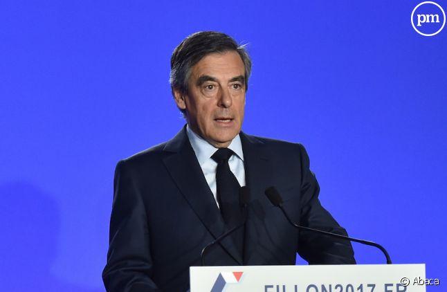François Fillon lors de sa conférence de presse hier