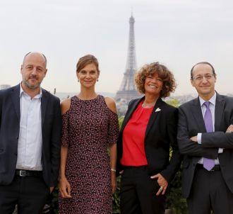De gauche à droite : Louis Dreyfus (président du...