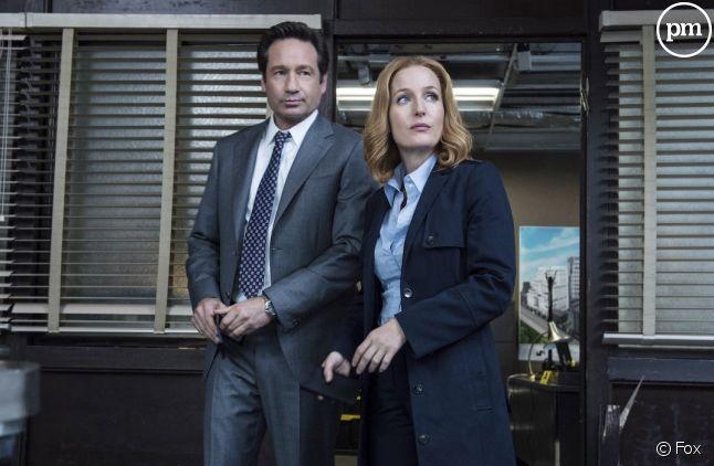 "David Duchovny et Gillian Anderson dans ""X-Files"""
