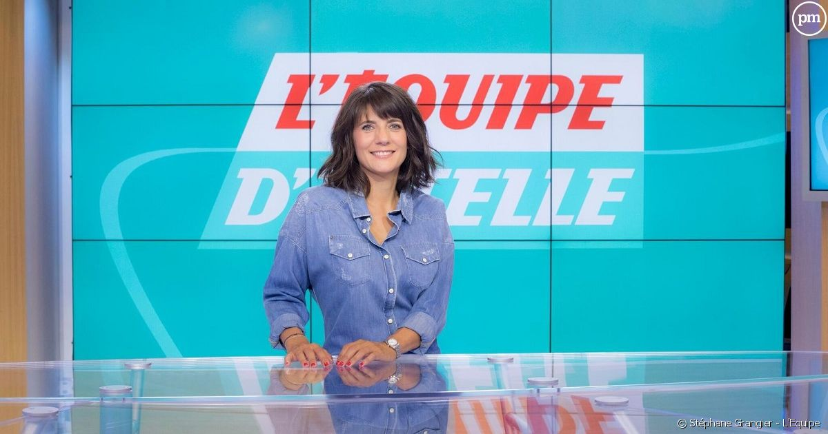 L 39 equipe estelle denis d barque avec sa quotidienne le for Denis article de bureau