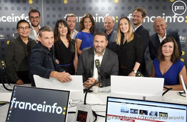 La nouvelle équipe de la matinale de franceinfo (la radio).