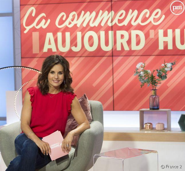 """Faustine Bollaert dans """"Ca commence aujourd'hui""""."""