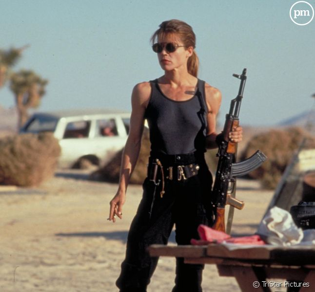 "Linda Hamilton dans ""Terminator 2"""