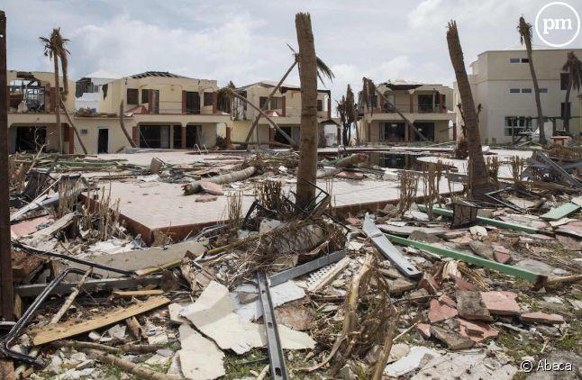 Image de désolation à Saint-Martin après le passage d'Irma