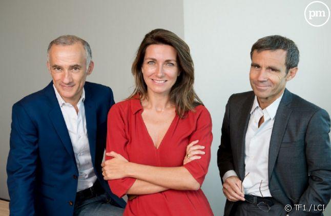 Gilles Bouleau, Anne-Claire Coudray et David Pujadas