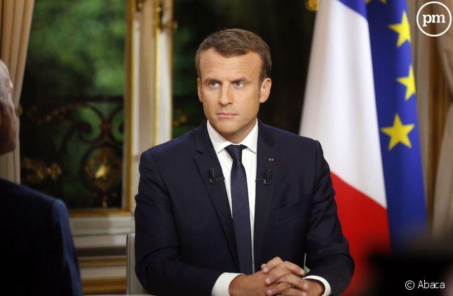 Emmanuel Macron, interrogé à l'Elysée le 15 octobre 2017.