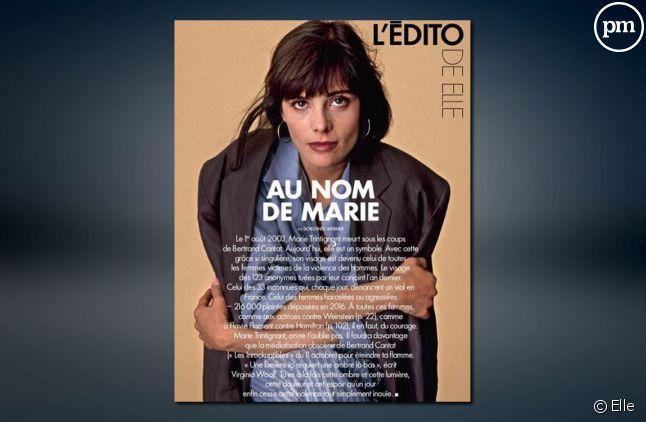 "Marie Trintignant dans ""Elle"""
