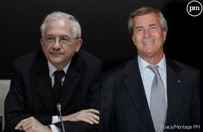 Olivier Schrameck et Vincent Bolloré