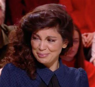 Nawell Madani en larmes dans 'Quotidien'.