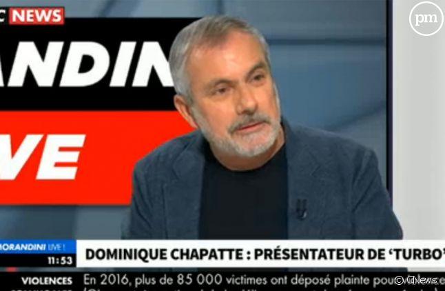 """Dominique Chapatte sur le plateau de """"Morandini live"""" sur CNews"""