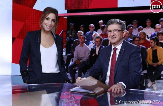 """Léa Salamé et Jean-Luc Mélenchon dans """"L'émission politique"""""""