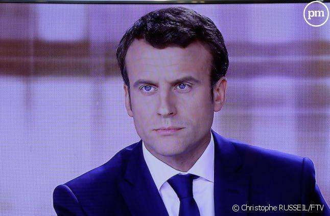 Emmanuel Macron lors du débat d'entre-deux-tours