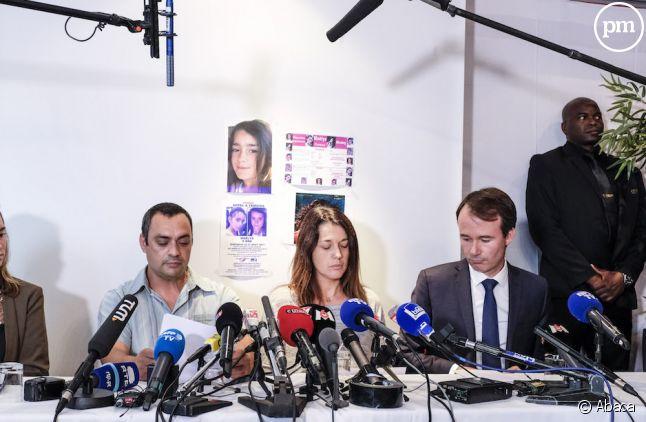 Les parents de Maëlys lors d'une conférence de presse en septembre 2017