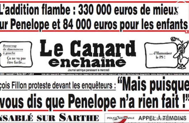 """Une du """"Canard Enchaîné"""" (Capture)"""