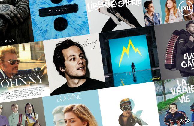 Les albums les plus vendus en France en 2017