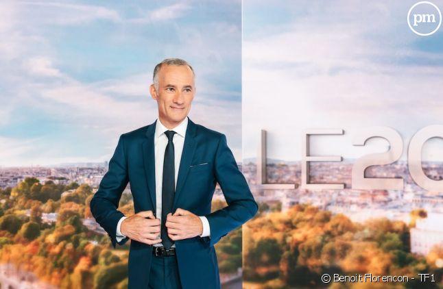 Gilles Bouleau sur le plateau du nouveau JT de TF1