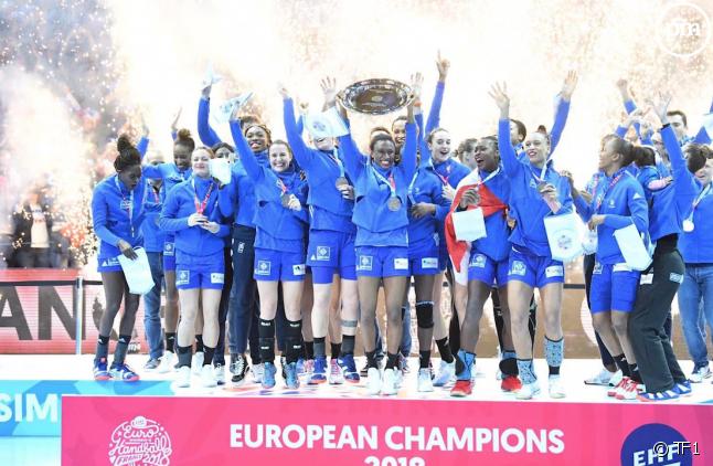 Victoire de l'équipe de France au championnat européen de handball féminin.