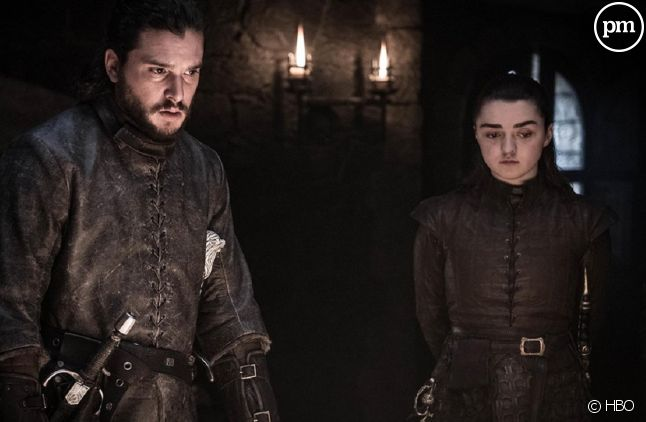 "Kit Harington et Maisie Williams dans ""Game of Thrones"""