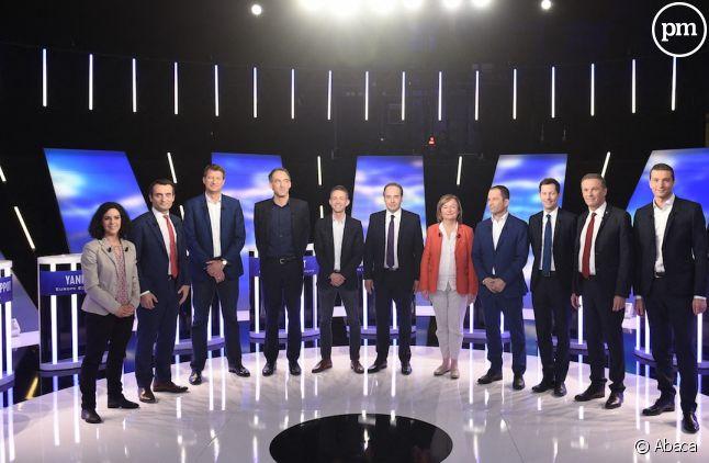 """Les onze têtes de liste sur le plateau de """"L'Ultime débat"""" de BFMTV"""