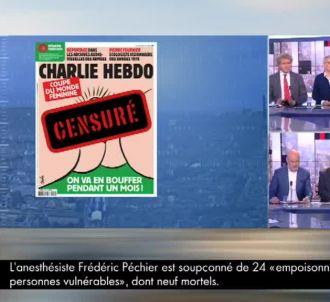 Pascal Praud refuse de montrer la Une de 'Charlie Hebdo'.