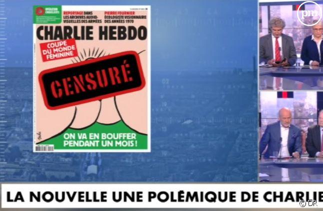 """Pascal Praud avait choisi de ne pas montrer la Une de """"Charlie Hebdo"""" en entier"""
